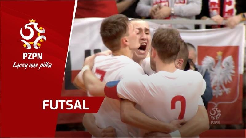 Futsal Skrót meczu Polska - Rosja (Nysa)