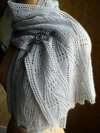 Ажурный шарф(вязание спицами))
