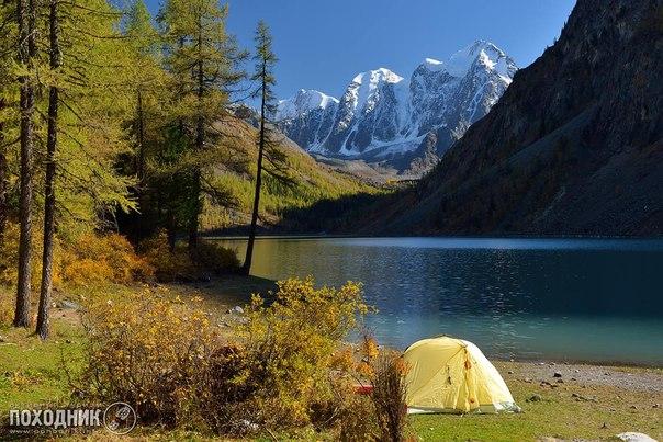 Нижнее Шавлинское озеро. Горный Алтай.