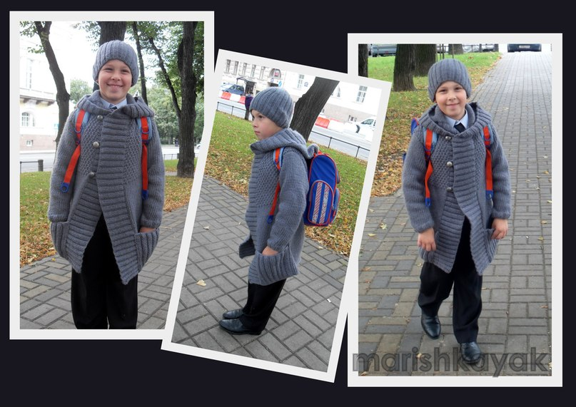 Вязание пальто для мальчиков