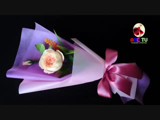 ABC TV _ How To Make Flower Bouquet With Single Rose #3 - Craft Tutorial.mp4