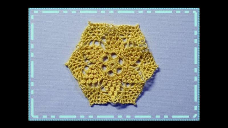 Crochet motif. Crochet doily. Вязание мотива крючком. Маленькая салфеточка.