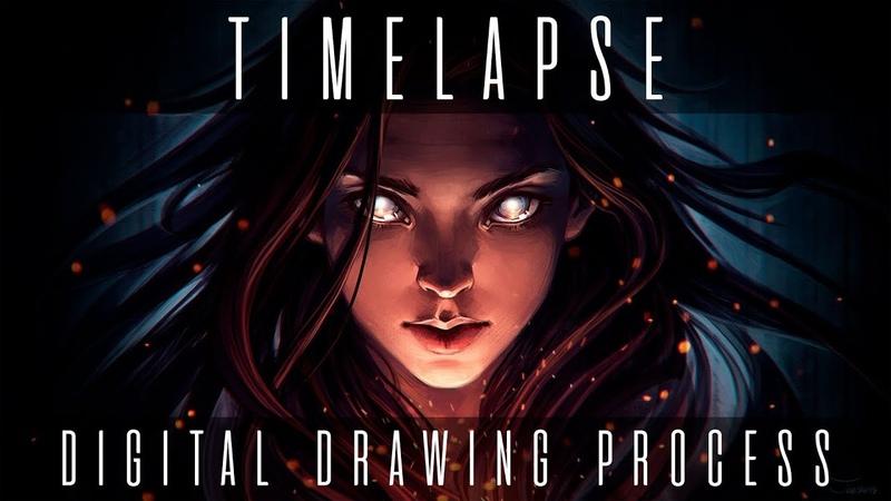 SPARKS Timelapse: digital drawing process   Joe's ART