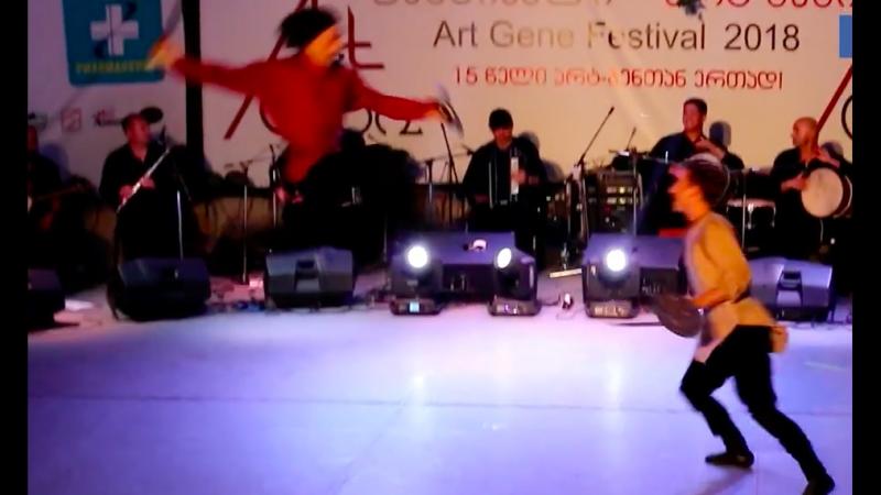 ансамбль Сухишвили на Art-Gene - танец Попурри (Парикаоба-Шеджибри)13.07.2018