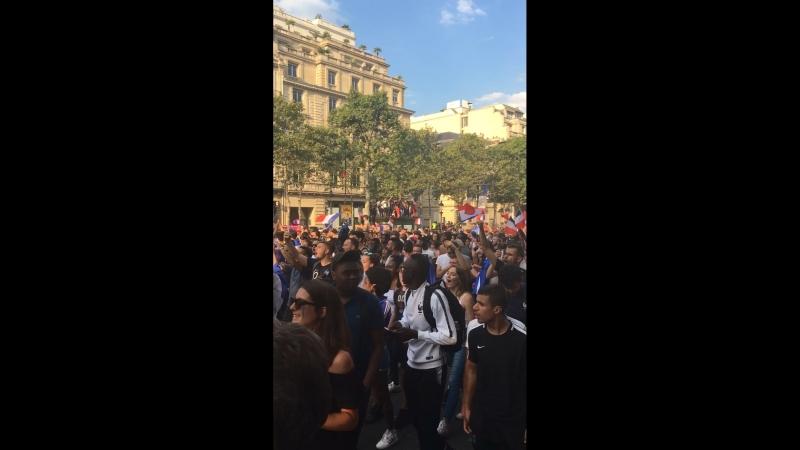La Marseillaise. La France est championne du monde