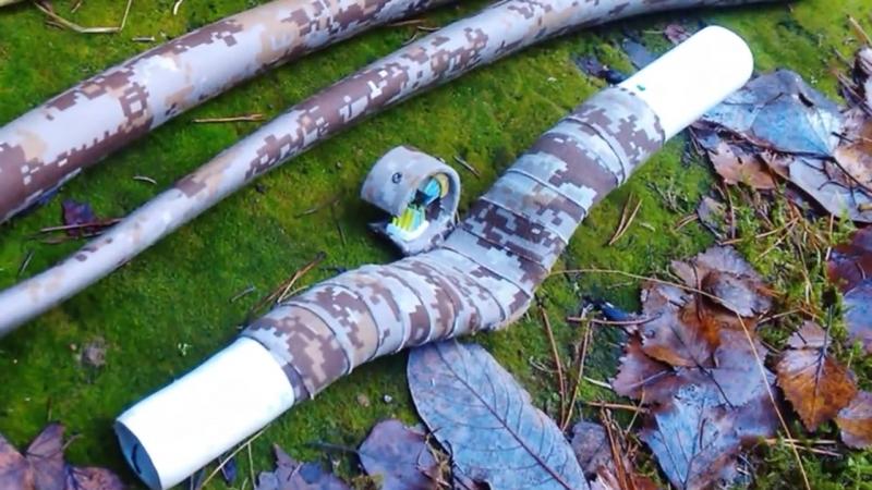 Выживание Поход самодельный лук из трубы PVC