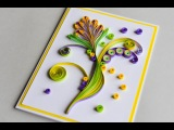 How to Make - Greeting Card Quilling Flower - Step by Step Kartka Okoliczno
