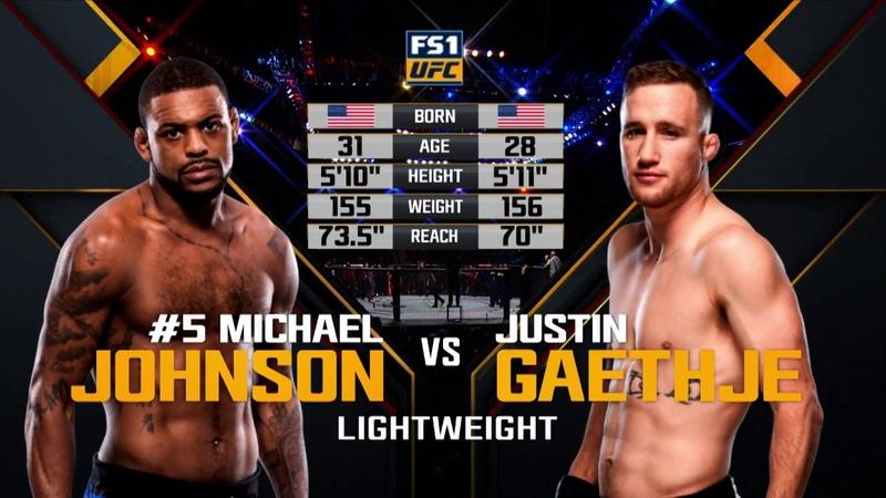 Fight Night Lincoln Free Fight: Justin Gaethje vs Michael Johnson
