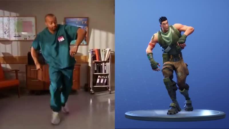 Разработчики Fortnite украли танцы у Тёрка из сериала Клиника
