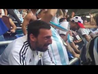 Реакция болельщиков Аргентины на гол Рохо