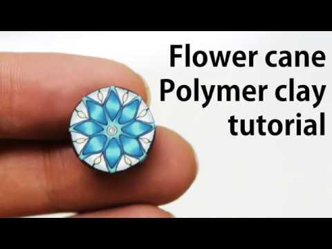 How to Make Flower Cane 폴리머클레이 꽃 케인 만드는 방법! 강좌!