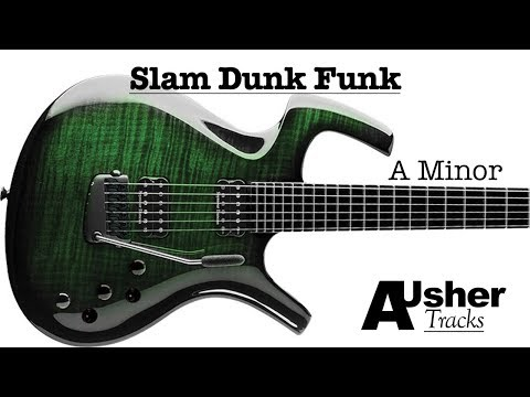 Slam Dunk Funk A minor | Guitar Jam Track