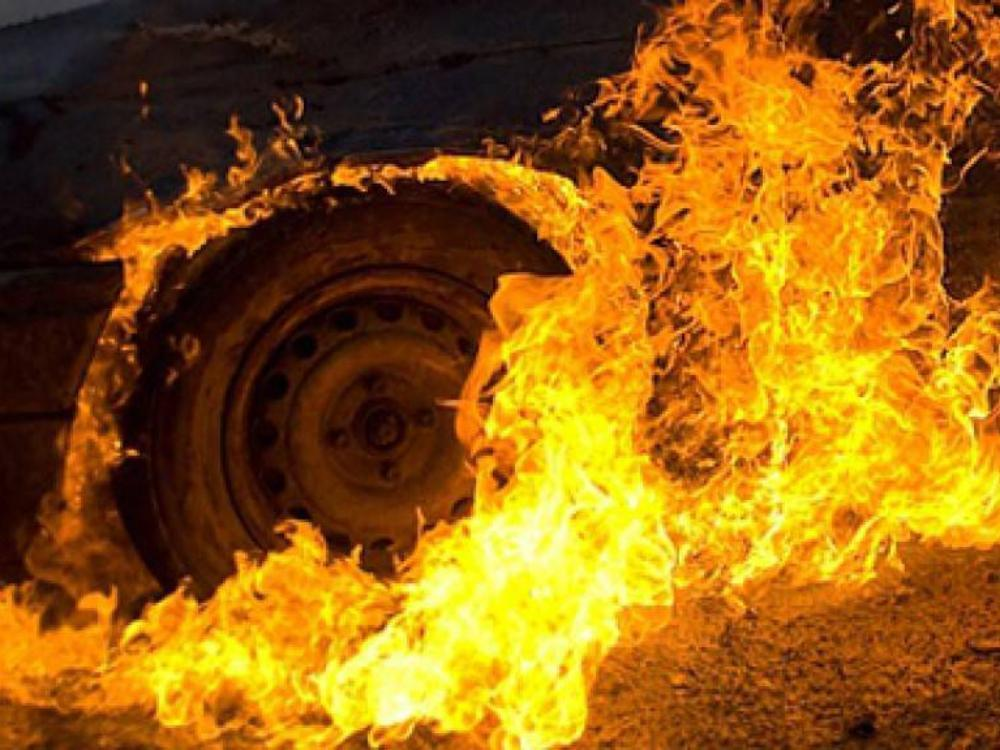 В Медногорском сгорел автомобиль