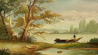 Poster Color Classical Landscape Painting With Yasser Fayad