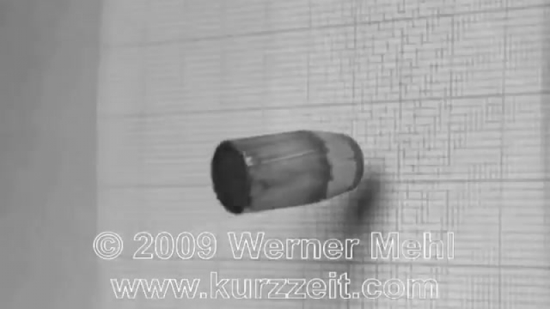 1 million fps Slow Motion video of bullet impacts made by Werner Mehl from Kurzz