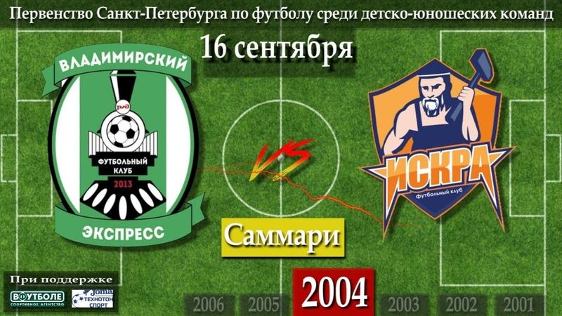 16 09 2018 Саммари 2004 Владимирский Экспресс Искра
