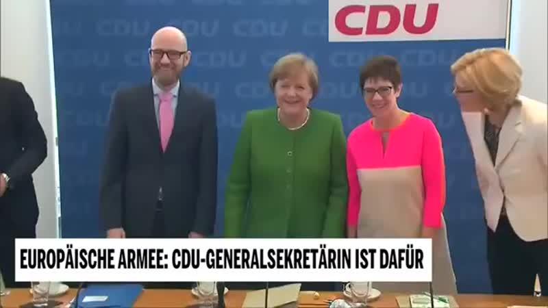Europäische Armee- CDU-Generalsekretärin ist dafür