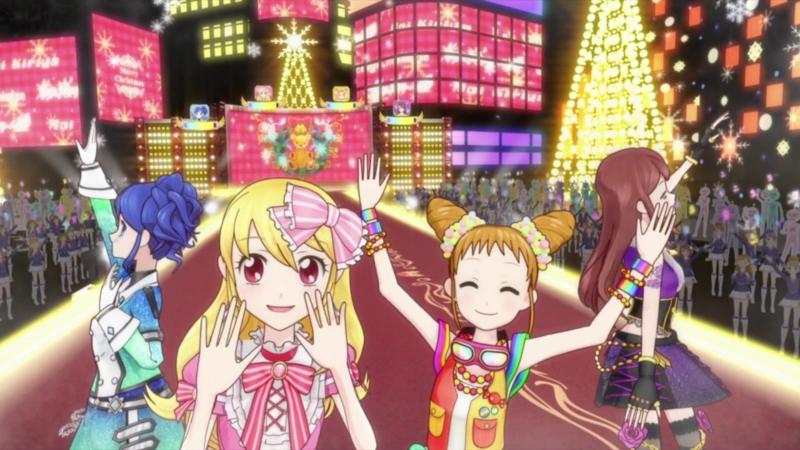 Aikatsu Episode 12 We wish you a merry Christmas Hoshimiya Ichigo Kiriya Aoi Shibuki Ran Arisugawa Otome 1080p