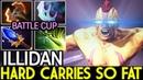 Illidan [Anti Mage] Hard Carries So Fat! Batle Cup 7.18 Dota 2