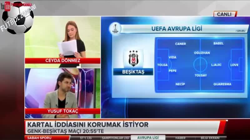 BEŞİKTAŞ Sabah Sporu - Genk Maçı, Muhtemel 11 Yorumları 8 Kasım 2018