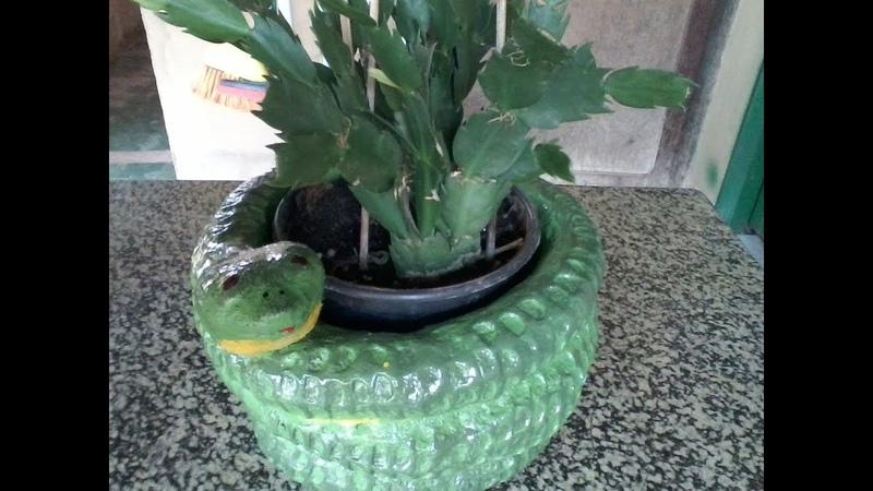 Vaso de Cimento Formato De Cobra