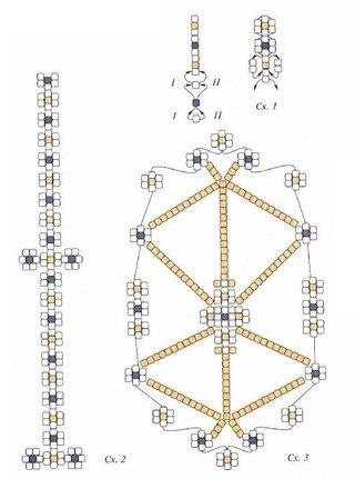 сувенирное яйцо из бисера. схема плетения сувенира к пасхе.
