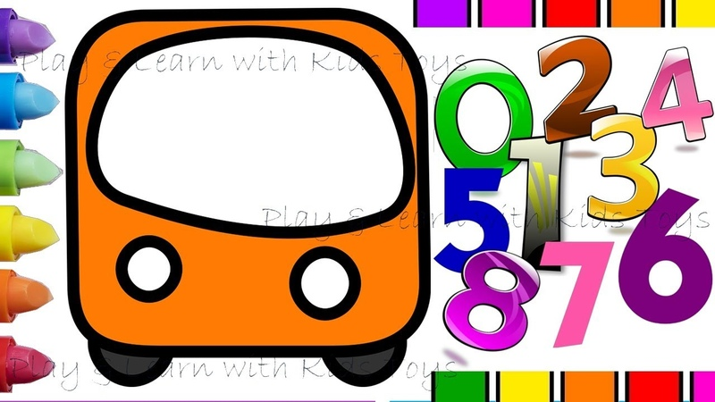 Wheels On The Bus – Learn to Count 1 to 15 with Buses
