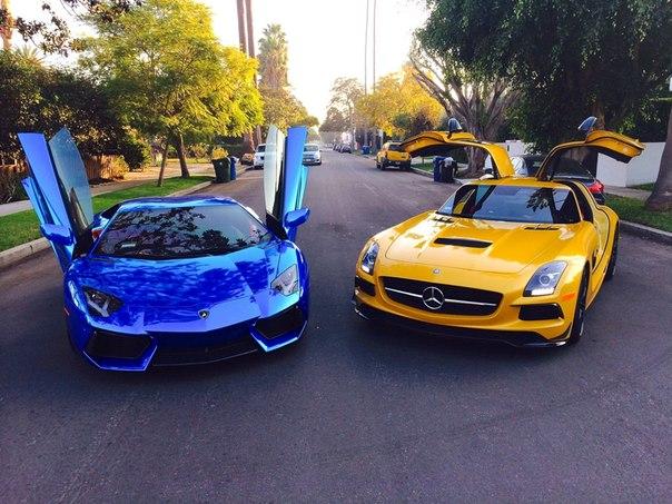 Lamborghini Aventador & Mercedes SLS