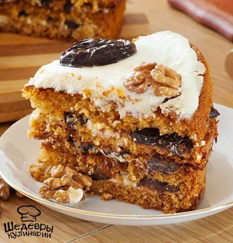 Медовый торт с орехами рецепт с фото