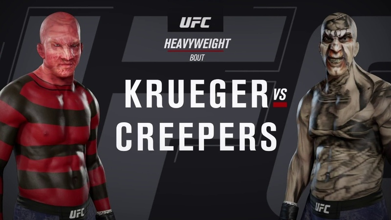 Freddy Krueger vs. Jeepers Creepers (EA Sports UFC 3) - CPU vs. CPU