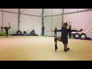 Арина Аверина, Дина Аверина (тренировка) // Чемпионат Европы 2018, Гвадалахара