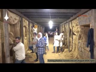 Syrians turn jihadists' tunnels into art, East Damascus