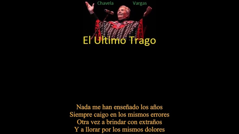 MEXICO Gold Singer Forever Chavela Vargas El Ultimo Trago The Last Drink Lyric