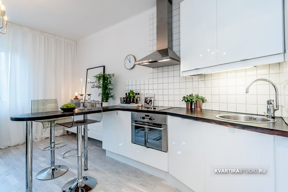 Дизайн малометражной квартиры-студии 22 м в Стокгольме / Швеция - http://kvartirastudio.
