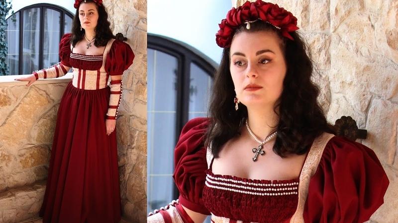Making The Renaissance Scarlet Dress - Entire Process