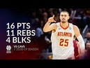 Alex Len 16 pts 11 rebs 4 blks vs Cavs 18 19 season