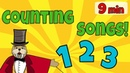 Interactive Counting Songs | 9 minutes | The Singing Walrus