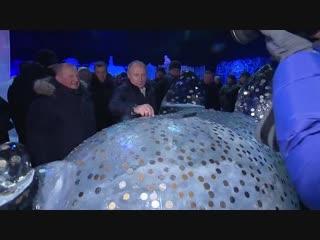 Владимир Путин и Александр Беглов на Фестивале Ледовых Скульптур