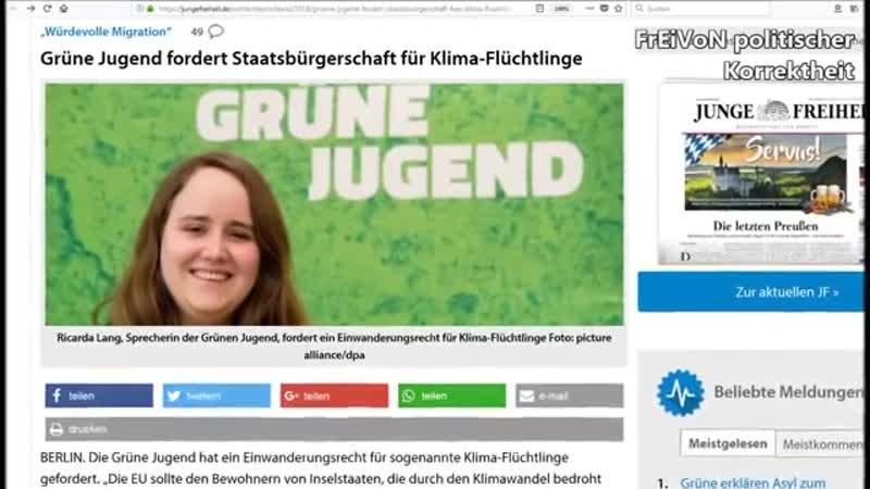 Grüne Jugend tickt aus- EU soll Klima-Bedrohte aufnehmen- - HD