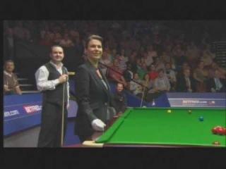 World Snooker Championship 2010 - Michaela Tabb's mistake