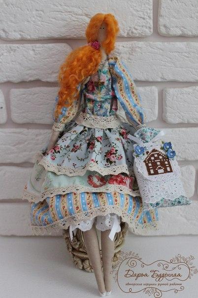 Куколка Прованс в стиле Тильда (7 фото) - картинка