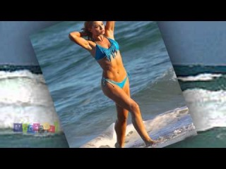 Emma Rigby Wet and Sexy in Blue Bikini from the Set of Her New Upcoming Movie 'Plastic'