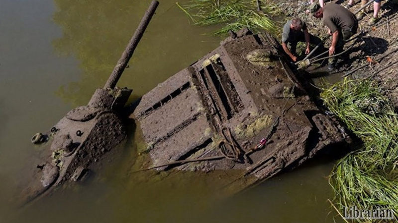 T-34/76 Tank Pulled Out Of River