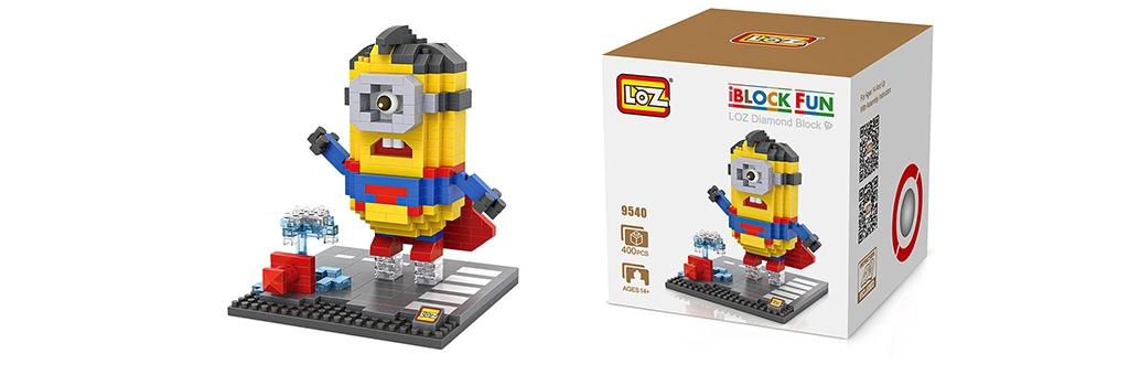"""Конструктор LOZ Diamond Block iBlock Fun """"Миньон Супермен"""" 9540"""