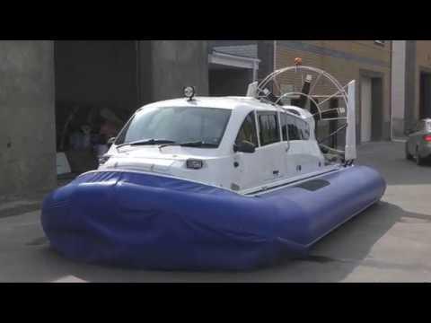 Hovercraft Кaiman-10 overview / Осмотр судна на воздушной подушке Кайман-10