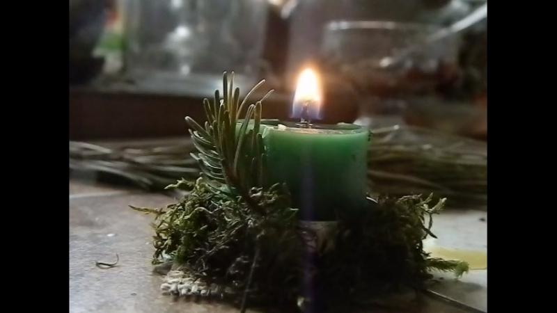 Мягкое горение фетильной свечи в гильзе