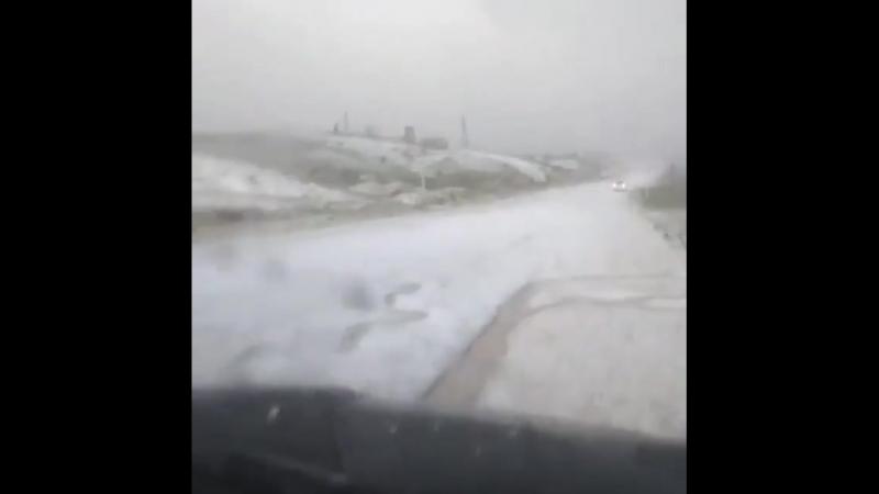 На Дагестан обрушился град  Осадки выпали в Акушинском районе.