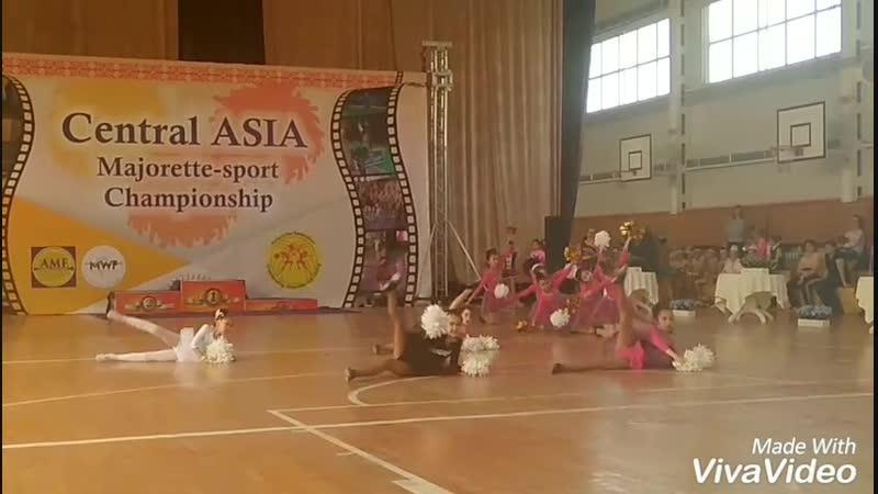 Международный Чемпионат Азии по Мажорет спорту команда ЗАДОР ПОМ ГРУППА Ч 1