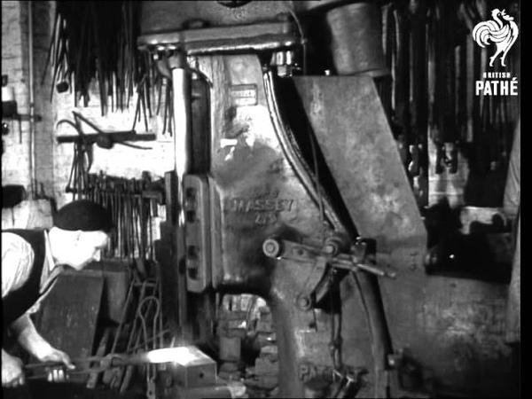 The Forge - A Classroom Film (1940-1949) Изготовление крюка.