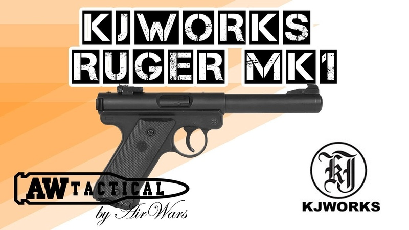 Страйкбольный пистолет KJWORKS RUGER MK1 AW2024